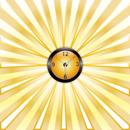 Nice yellow clock whit rays