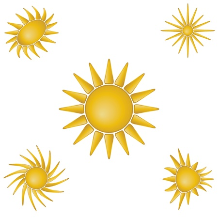Bright symbolic vector sun collection Stock Vector - 14523455