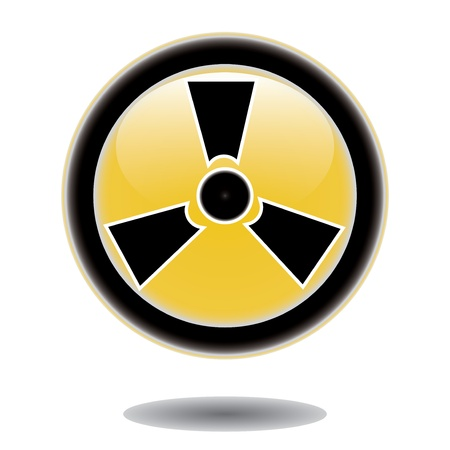 caution chemistry: Label caution sign  Sticker radiation hazard symbol