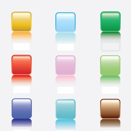 Colorful buttons on white background Vector