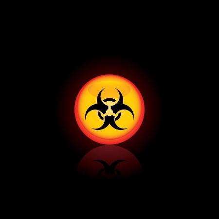 Biohazard circle icon  for your design Vector illustratio Vector
