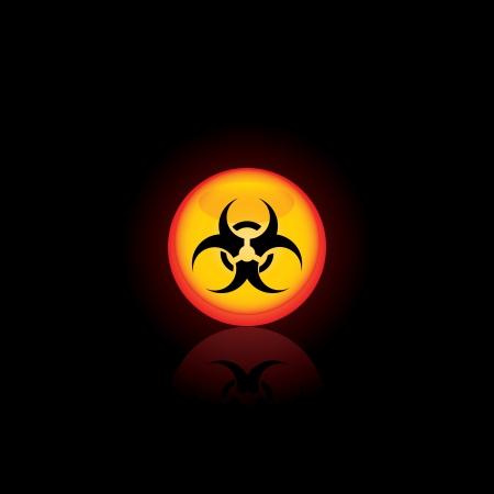 Biohazard circle icon  for your design Vector illustratio Vector