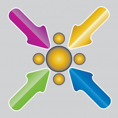 Vector arrows . Vector