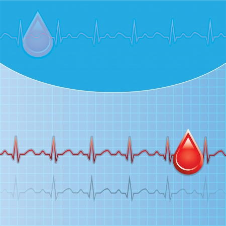 Blood donation Medical background Stock Vector - 14940112