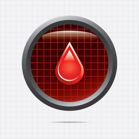 Blood donation  Medical button Vector