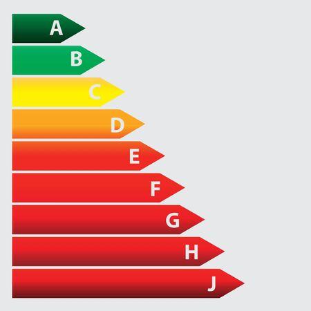 energy ranking: Energy efficiency concept