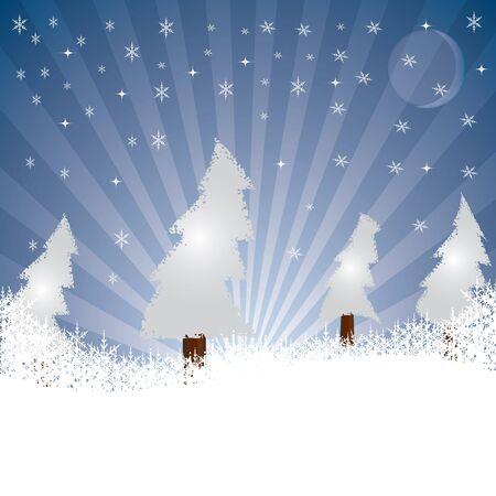 wintry: Christmas Card vector