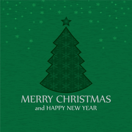 Christmas tree applique Vector