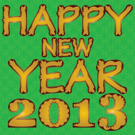 caligraphic: Happy new year 2013