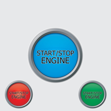 Stop start buttons vector Stock Vector - 15541330