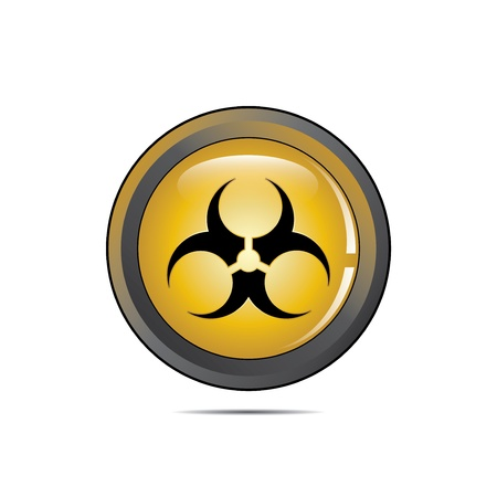Vector - Radioactive Danger Yellow Button  Caution Radiation  Stock Vector - 15541476