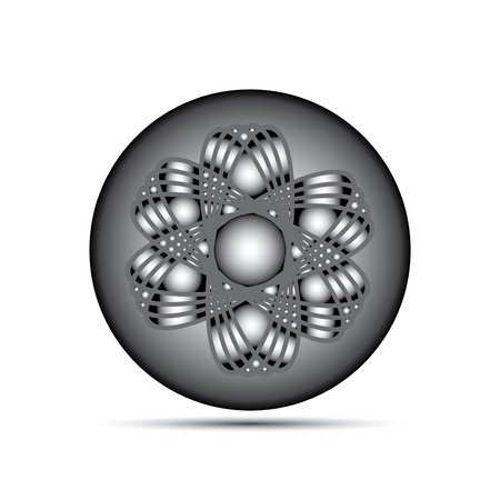 Atom part on white background Stock Vector - 15734197