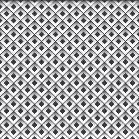 diamond shape: Metal cells seamless pattern