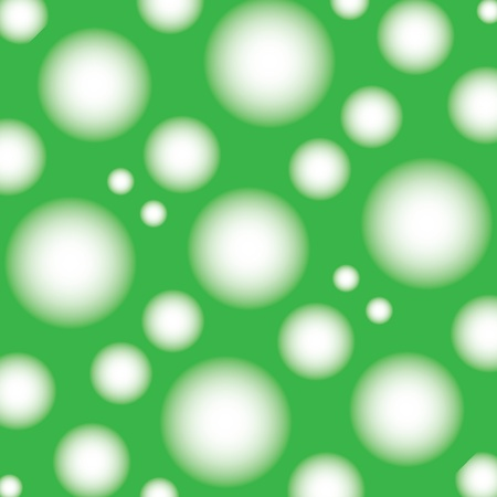 resizable: Seamless pattern with round and square design, greens Illustration