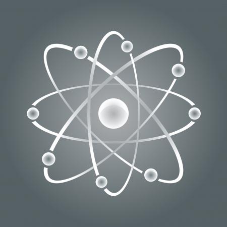 bakground: Atom part on white bakground