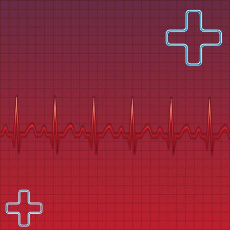 blood line: Blood donation Medical background Illustration