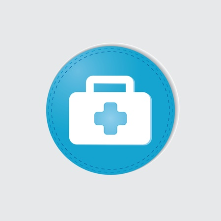 First aid on white background  Vector
