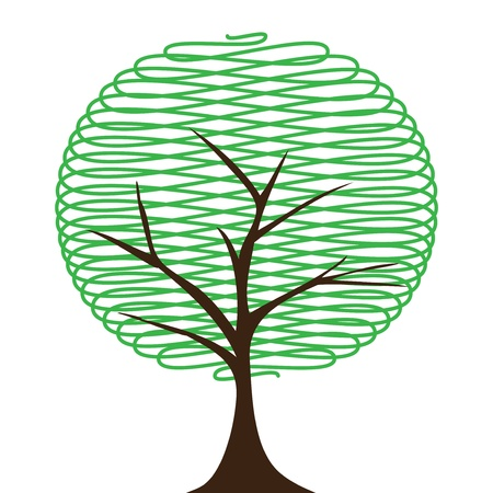 Abstract tree  on white background vector Stock Vector - 16137060