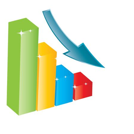 turnover: Business growth chart  Illustration