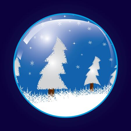 Christmas ball  whit snow  Vector