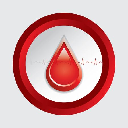 Blood donation vector Medical button Vector