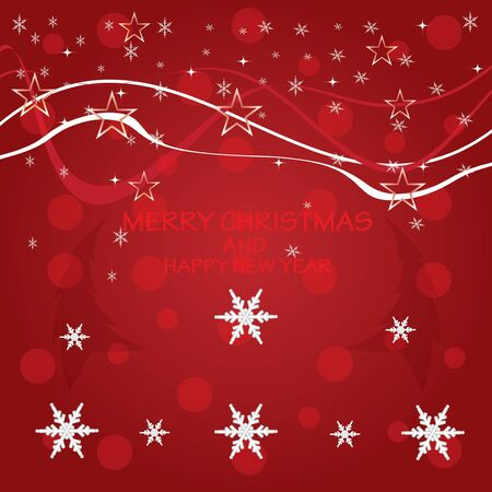 Christmas background with snow vector Vector