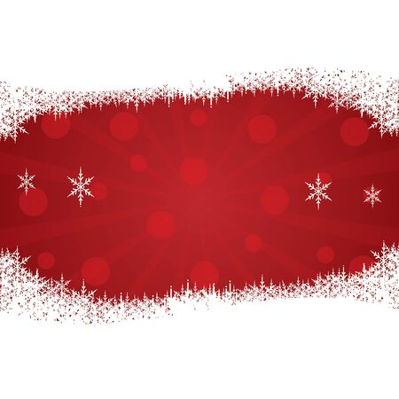 Christmas background with snow vector Stock Vector - 16581596
