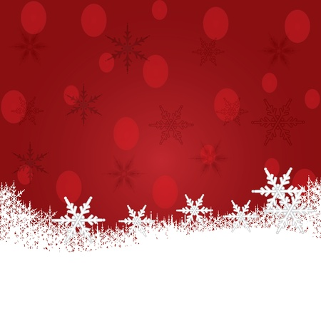 Christmas background with snow vector Stock Vector - 16581597