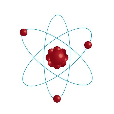 Atom part on white bakground Stock Vector - 16815441