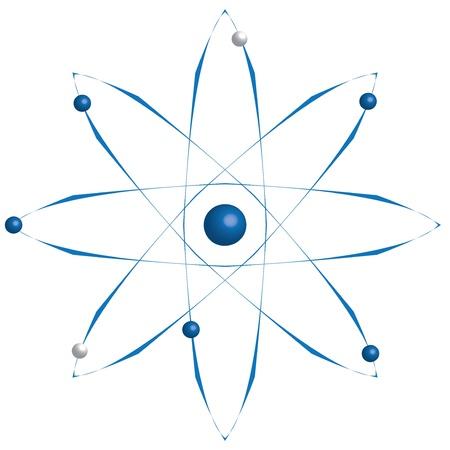 Atom part on white bakground Stock Vector - 16815042