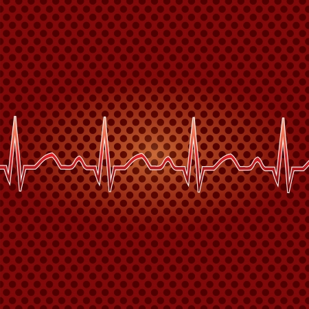 Red heart beat Stock Vector - 16815012