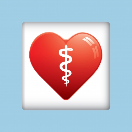 First aid medical button Vector