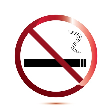 No smoking sign on white Stock Vector - 16815446