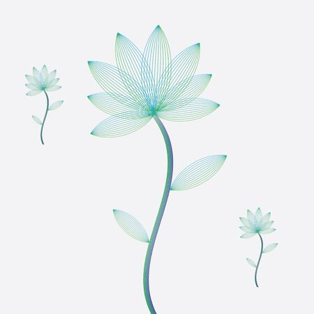 Abstract flowers on white background. Stock Vector - 17042225