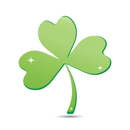 Clover icon isolated on white. Stock Vector - 17042217