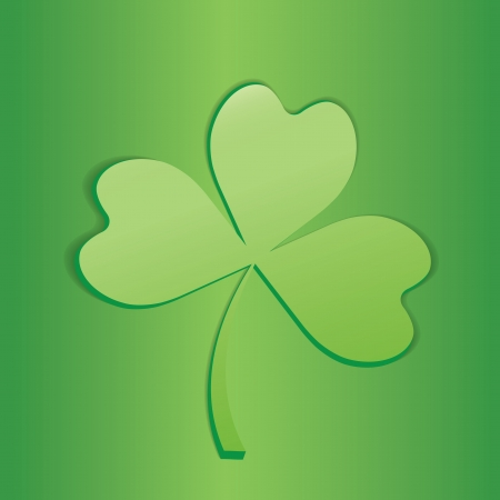 Clover icon isolated on green background. Stock Vector - 17041277