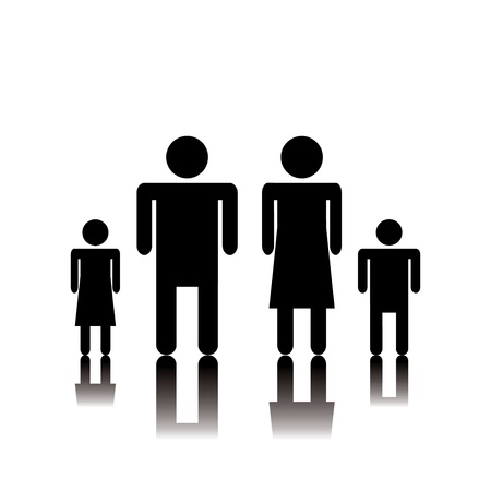 Silhouette family. Icon.vector Stock Vector - 17277747