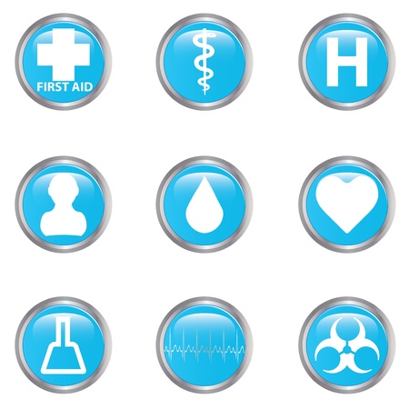 Medical button set  Stock Vector - 17277839