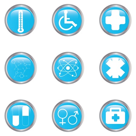 Medical button set Stock Vector - 17277842
