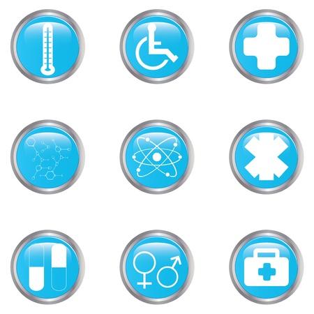 Medical button set Stock Vector - 17277842