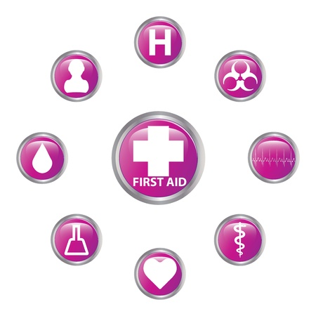 Medical button set Stock Vector - 17277834