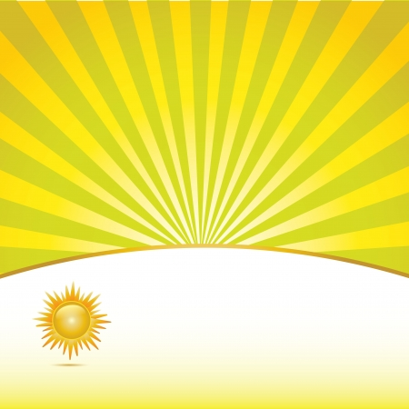 yellow bright sun Illustration