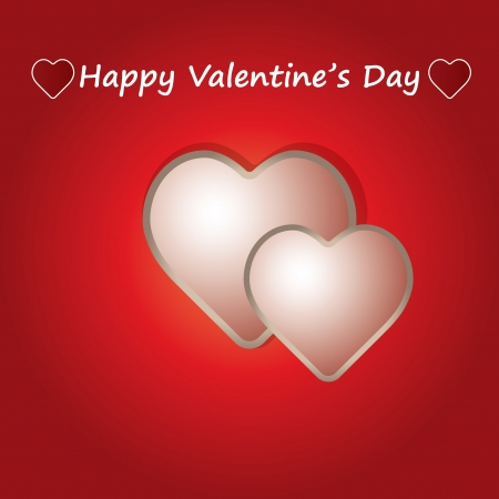 Valentine Day Card whit Hearts vector Stock Vector - 17531192