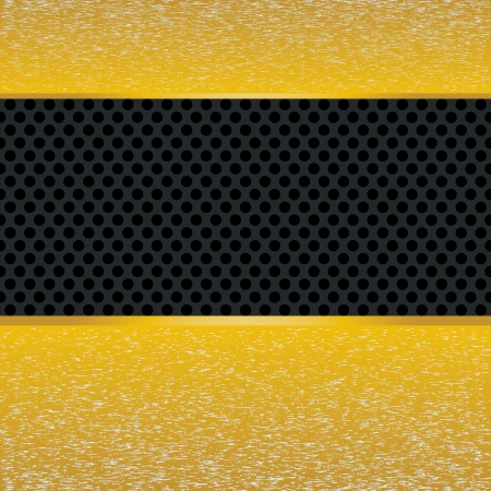 durable: Abstract yellow metal stripes on texture vector