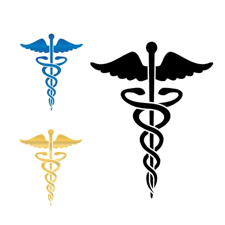 medicale: Caducée médical symbole illustration vectorielle eps10