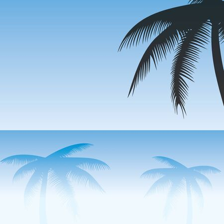 Palm trees reflected on sand vector Stock Vector - 17855369