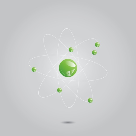 Atom part on grey background. Stock Vector - 18220109