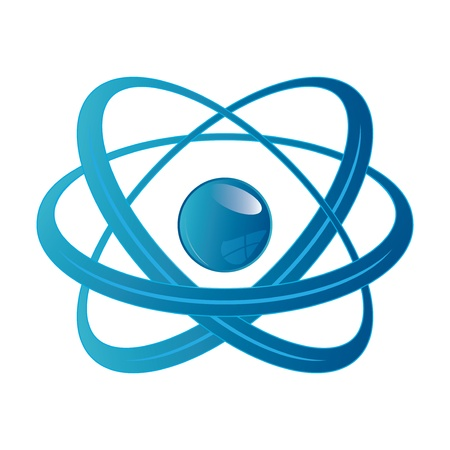 Atom part on white background. Illustration