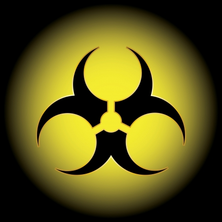 Biohazard official symbol.  Vector