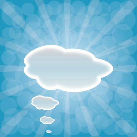 web design background: Abstract web design background with clouds with sun rays.